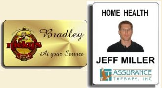 employee name badges affordable engraved name tags color photo id